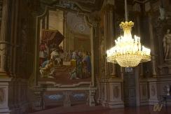 Splendidi affreschi in una sala