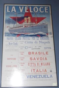 Manifesto di una nave veloce per italiani